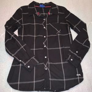 Le Tigre black and white flannel